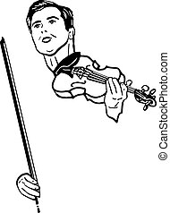 a musician with violin