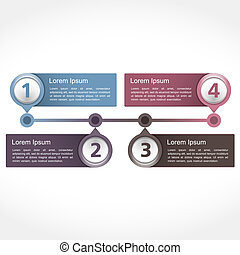 Timeline Design - Timeline design template with four...
