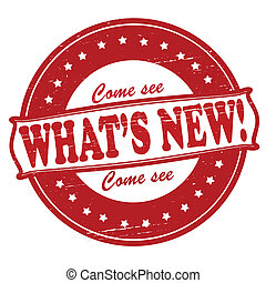 What new - Stamp with text what new inside, vector...