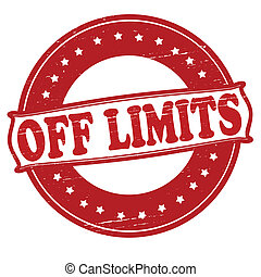 Off limits - Stamp with text off limits inside, vector...