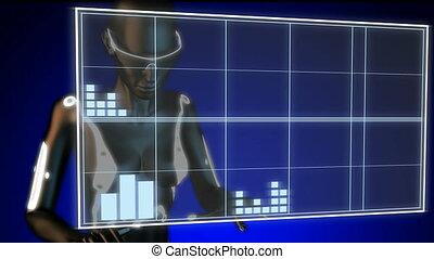 basketball game player on hologram