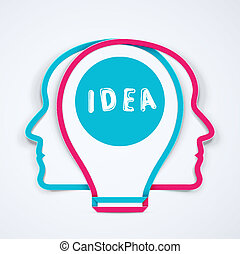 Best idea, concept illustration, eps 10