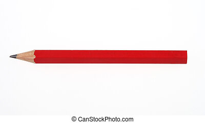 red pencil on white