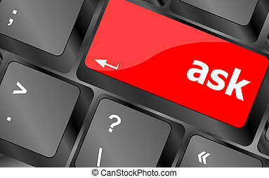 ask button on computer keyboard key
