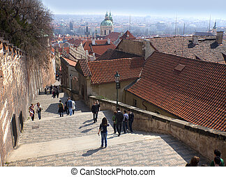 Prague - New Castle Stairs