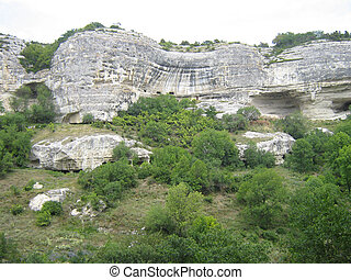 Cave city a place of residing of people in the Middle Ages