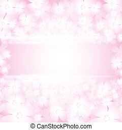 Background with beautiful pink flowers