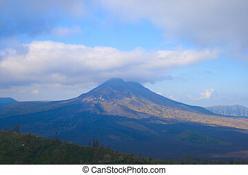 Volcano Kintamani and lake Batur on Bali island