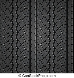 Wheel tire seamless pattern Vector realistic illustration