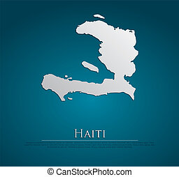 vector Haiti Map card paper