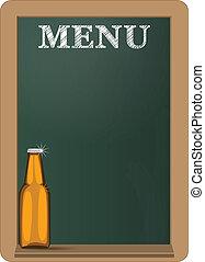 menu chalkboard beer