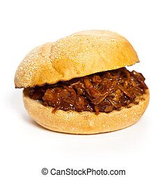 BBQ Pulled Pork Sandwich - Barbecue Pulled Pork Sandwich