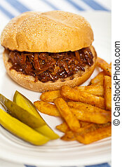 BBQ Pulled Pork Sandwich - Barbecue Pulled Pork Sandwich...