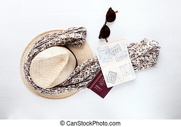 Travel things - A hat and sunglasses on the whole things are...