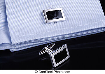 cuff links with onyx - sllver cuff links with onyx on a...