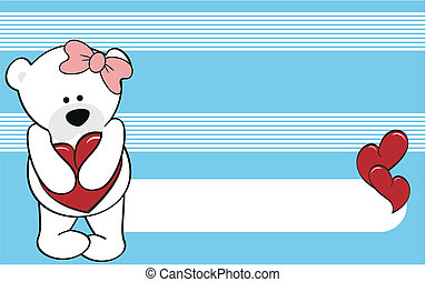 polar bear girl cartoon love wallpaper in vector format very...