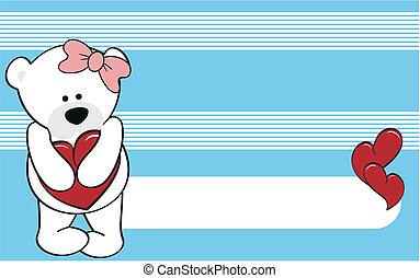 polar bear girl cartoon love wallpaper in vector format very...