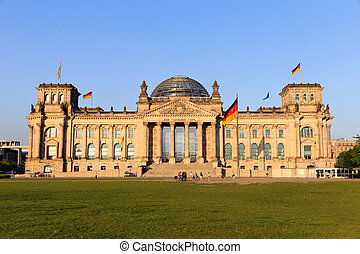 Reichstag - The Reichstag building in Berlin: German...