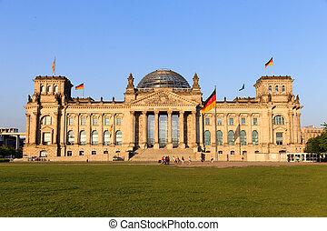 Reichstag - The Reichstag building in Berlin: German...