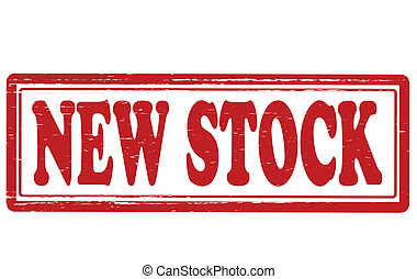 New stock - Stamp with text new stock inside, vector...