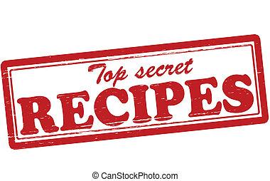 Top secret recipes - Stamp with text top secret recipes...