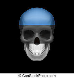 Estonian flag skull