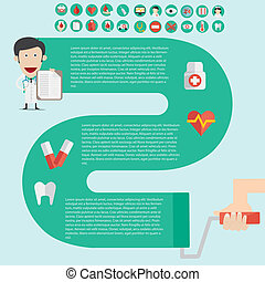 Medical Infographics in flast design with useful icon