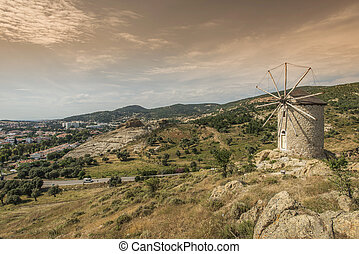 old windmill - foca izmir turkey