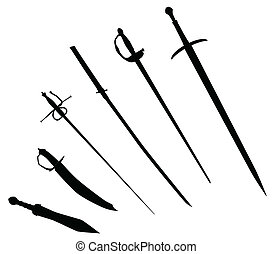 Sword Silhouettes - A collection of sword silhouettes...
