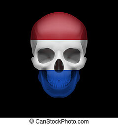 Dutch flag skull