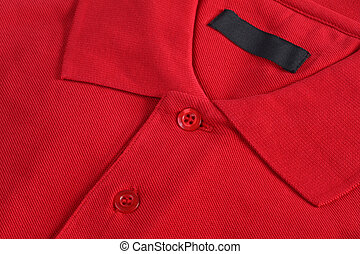 red polo shirt - Red poloshirt close up