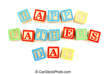 Happy Fathers Day tag with gift box, ties and toy tools