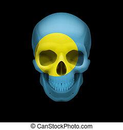 Palauan flag skull