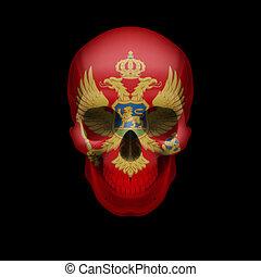 Montenegro flag skull