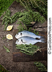 Bream fish - Healthy eating. Bream fish preparation. Seafood...