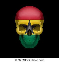 Ghanian flag skull