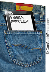 Tablet Computer - Spanish Everywhere - Jeans with black...