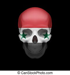 Syrian flag skull - Human skull with flag of Syria Threat to...