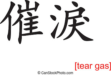 Chinese Sign for tear gas - Chinese calligraph as design...