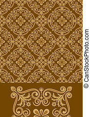 Antique Pattern Design - Vector file of brown color antique...