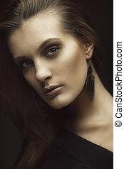 Gorgeous brunette - Art portrait of gorgeous brunette...