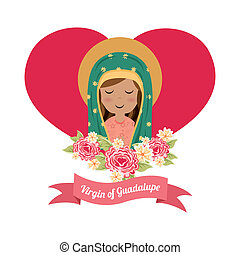 Holy Mary design over white background, vector illustration