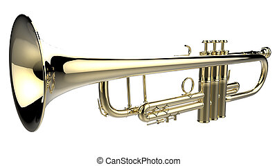 Trumpet - The objects made at 3d