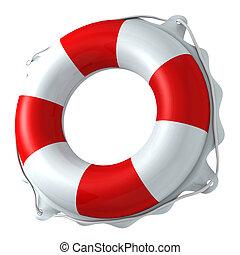 schwimmender, ring