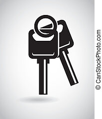 Security design over gray background, vector illustration