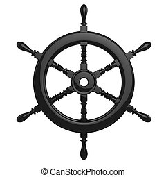 ship wheel - The objects made at 3d