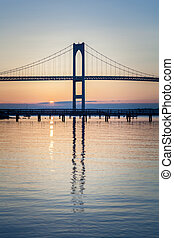 Newport Bridge Sunrise - This is an early morning sunrise...