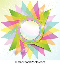 Colorful Rounded Empty Background V