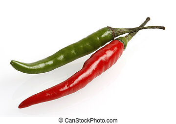hot chilis - red and green hot chili