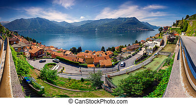 View from the town of Carate Urio, on Lake Como.